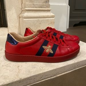 Men's Red Gucci Sneakers